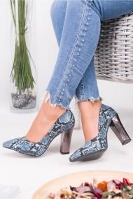 Pantofi cu toc AWON 8A74001MAY albastru