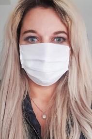 Set 10 bucati - Masca Protectie de unica folosinta din Polipropilena doua straturi