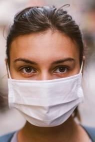 Set 10 bucati - Masca de protectie reutilizabila din bumbac 100% doua straturi
