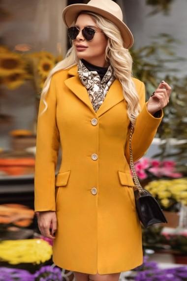 Palton Chic Diva Bella Mustar