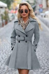 Palton Chic Diva Selma Gri