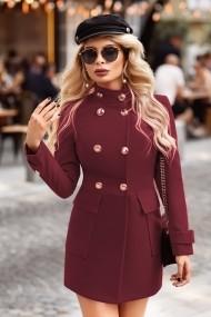 Palton Chic Diva Fiona Bordo