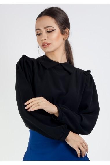 Bluza Moze cu guler P22420536-3448 Neagra