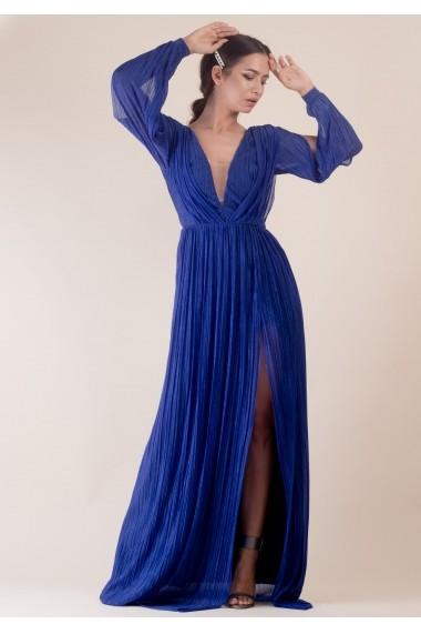 Rochie Moze lunga P25460005-2004 Albastru
