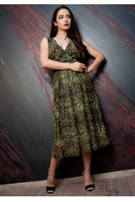 Rochie Moze petrecuta cu fusta creata P23999462-3447 Verde