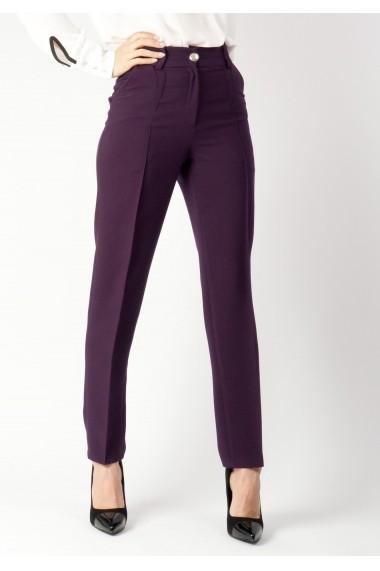Pantaloni Moze drept cu dunga P22735385-P144345 Mov