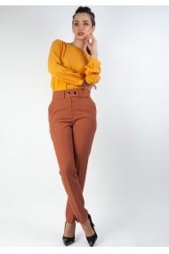 Pantaloni Moze cu dunga P23333977-P38290 Maro