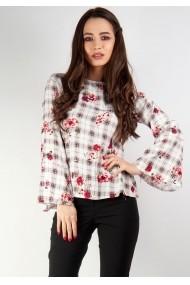 Bluza Moze din print carou P23104028-1016 Rosu