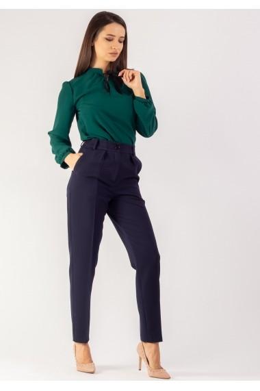 Pantaloni Moze uni cu pliuri in talie P27538492-3676 Bleumarin