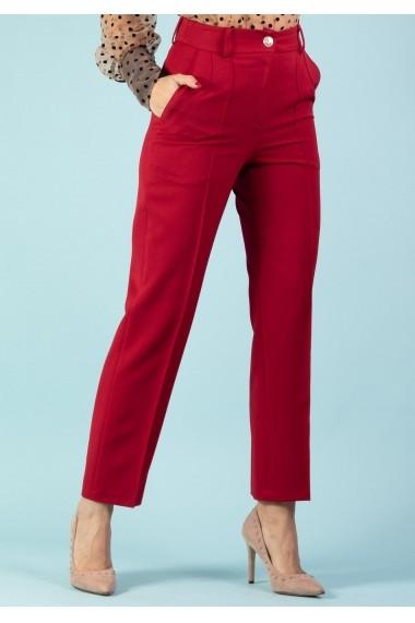 Pantalon Moze cu dunga cusuta P28083044-1016 Rosu
