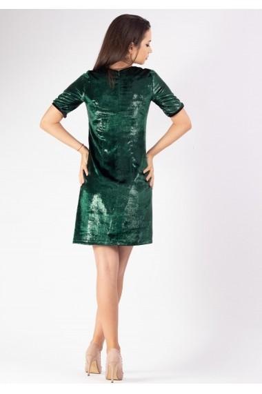 Rochie Moze sac din catifea peliculizata P26758005-3447 Verde