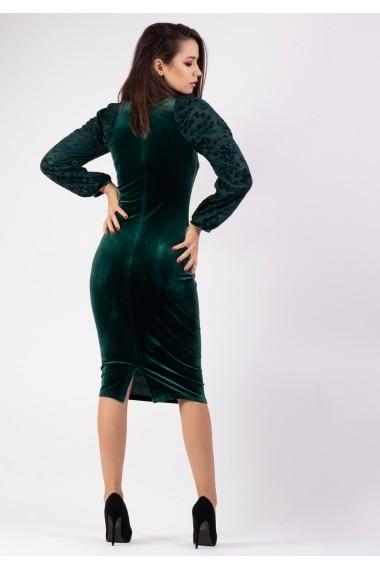 Rochie Mode conica din catifea P26637131-3447 Verde