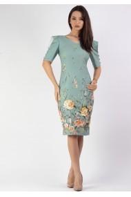 Rochie conica print floral