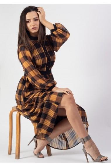 Rochie cu guler tunica in carou