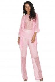Set top si pantaloni Vero Milano Adelaide P277 Roz