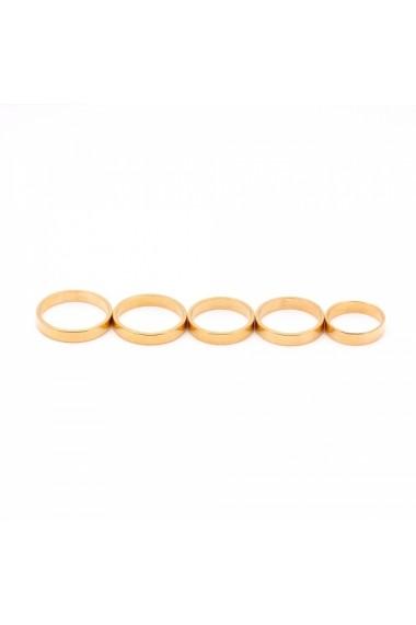 Inel tip verigheta placat cu aur Solid