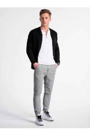 Pulover premium stil sacou barbati  E168 negru