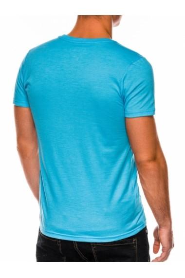Tricou slim fit barbati S1041  turcoaz