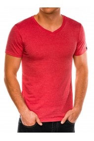 Tricou slim fit barbati S1041  corai