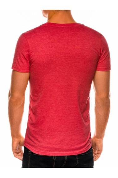 Tricou slim fit barbati S1041  corai