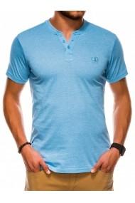 Tricou slim fit barbati S1047  albastru deschis