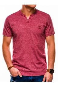 Tricou slim fit barbati S1047  rosu