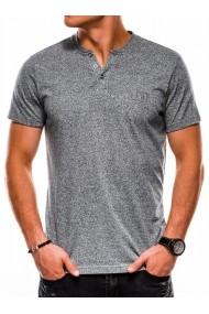 Tricou slim fit barbati S1047  gri