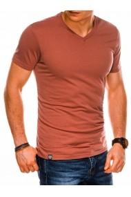Tricou slim fit barbati S1041  portocaliu