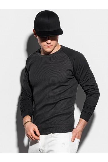 Bluza slim fit barbati L119  negru