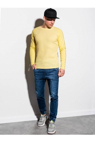 Bluza slim fit barbati L119  galben