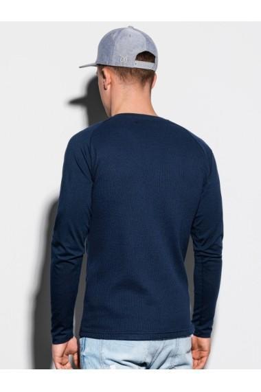 Bluza slim fit barbati L119  bleumarin