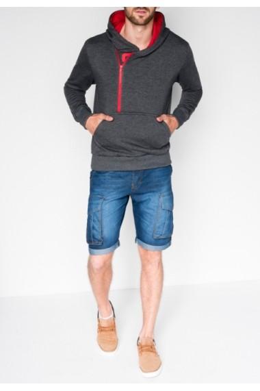 Hanorac Ombre cu fermoar lateral Denis Gri