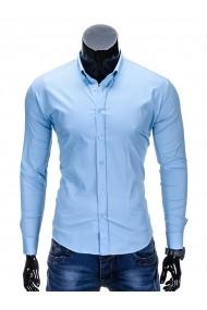 Camasa Ombre uni slim fit elastica K219 Bleu