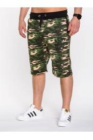 Pantaloni scurti Ombre stil militar army camuflaj W001 Verde