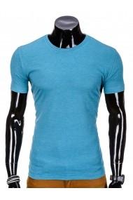 Tricou Ombre slim fit mulat pe corp din bumbac S620 Bleu