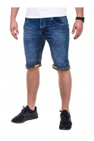 Jeans scurti Ombre slim fit casual P415 Albastru