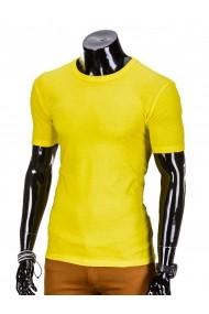 Tricou Ombre slim fit mulat pe corp din bumbac S620 Galben