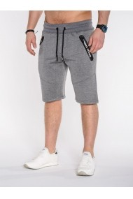 Pantaloni scurti Ombre buzunare cu fermoar P511 Gri Inchis