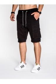 Pantaloni scurti Ombre cu buzunare laterale P527 Negri