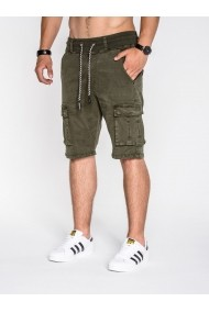 Pantaloni scurti Ombre cu buzunare laterale P527 Verde