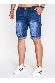 Jeans scurti Ombre slim fit casual P529 Albastru