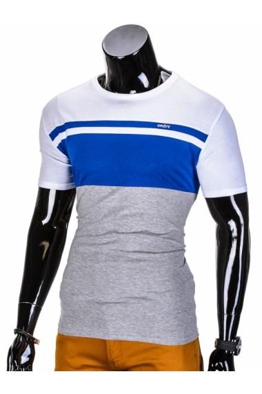 Tricou Ombre slim fit S844 Bleu