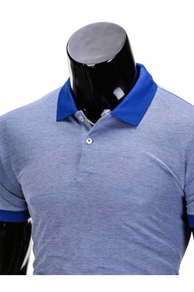Tricou Polo Ombre S847 Albastru