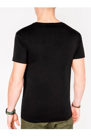 Tricou Ombre S1081 Negru