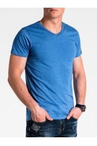 Tricou Ombre S1041 Albastru