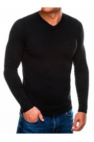 Bluza pentru barbati din bumbac negru casual slim fit  E74