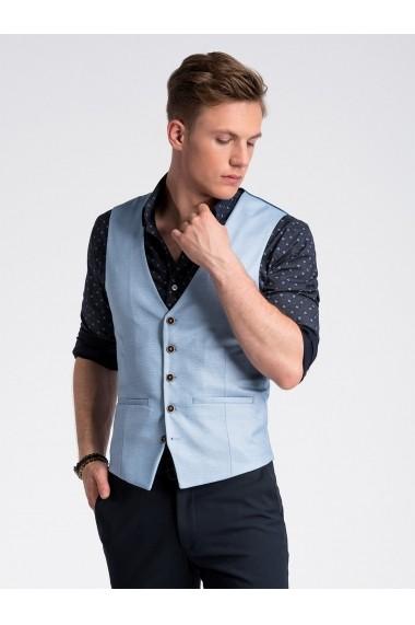 Vesta premium eleganta barbati  V45 albastru deschis