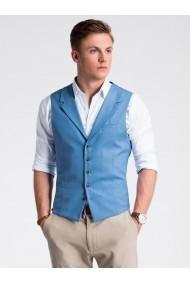 Vesta premium eleganta barbati  V46 albastru inchis