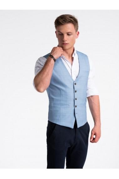 Vesta premium eleganta barbati  V48 albastru deschis