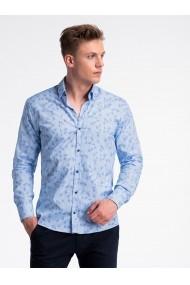 Camasa premium casual barbati  K500 albastru